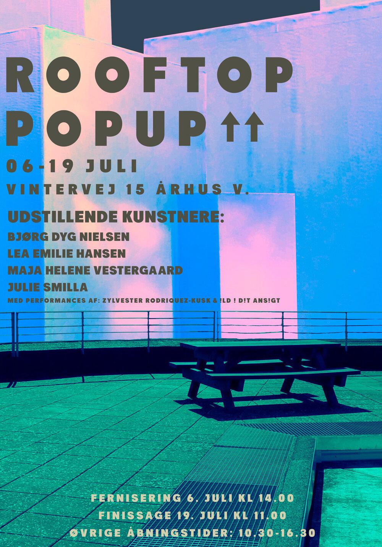 Rooftop Popup. Plakat: Axel Gianluca Biondi.